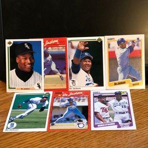 Bo Jackson Baseball Cards - Lot of 7 *NM*